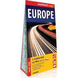 EUROPA Laminowana mapa samochodowa ExpressMap