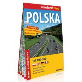 Polska Laminowana mapa samochodowa kieszonkowa MIDI ExpressMap