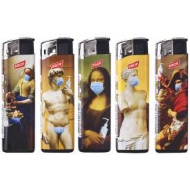 Zapalniczka Masked Art sztuka maseczka pandemia Mona Lisa