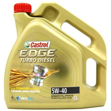 OLEJ CASTROL EDGE TURBO DIESEL syntetyczny 5w40 4L 27-113