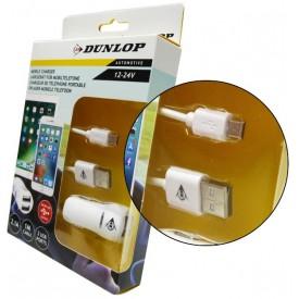DUNLOP ADAPTER PRZEJŚCIÓWKA ZAPALNICZKI MICRO USB