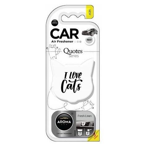 Aroma Car CAT QUOTES kot Fresh Linen odświeżacz zapach